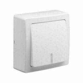 Appareillage en saillie bouton poussoir lumineux.témoin gamme Blok couleur blanc - Gedimat.fr