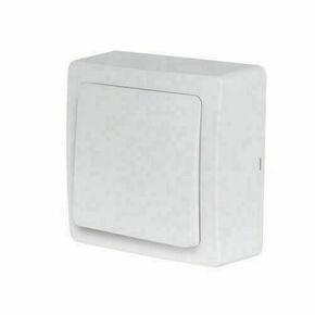 Appareillage en saillie bouton poussoir gamme Blok couleur blanc - Gedimat.fr