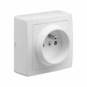 Appareillage en saillie prise 2P+T 16 ampères gamme Blok couleur blanc - Gedimat.fr