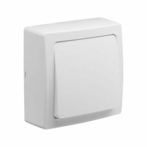 Appareillage en saillie va et vient gamme Blok couleur blanc - Gedimat.fr
