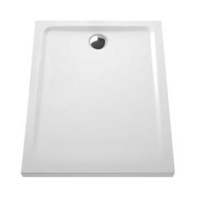 Receveur rectangulaire à poser ou à encastrer ARKITEKT en céramique haut.5,5cm larg.80cm long.100cm blanc - Gedimat.fr