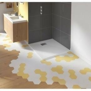 Receveur carré à poser ou à encastrer KINESURF en biocryl thermoformé Long.80cm Haut.4cm larg.80cm coloris Blanc - Gedimat.fr