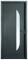 Porte d'entrée PIANA en acier laqué gauche poussant haut.2,15m larg.90cm - Gedimat.fr