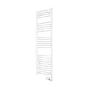 Radiateur sèche serviettes GORELI DIGITAL Blanc 500W étroit Long.40cm Haut.142cm Ép.8 cm - Gedimat.fr