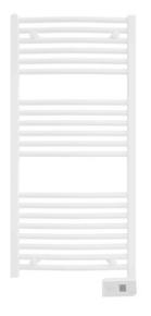 Radiateur sèche serviettes GORELI DIGITAL Blanc 500 W Long.50cm Haut.113cm Ép.8 cm - Gedimat.fr