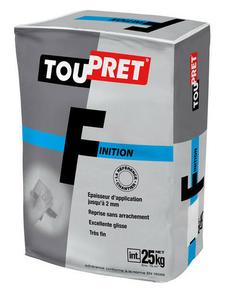 ENDUIT DE FINITION TOUPRET F POUDRE 25KG - Gedimat.fr