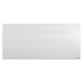 Radiateur à intertie sèche en pierre SIBAYAK Long.104,5cm Haut.47,8cm Ép.12,9cm coloris Blanc 2000W - Gedimat.fr