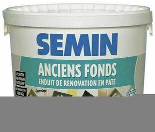 Enduit de rénovation SEMIN ANCIENS FONDS - seau de 5kg - Gedimat.fr