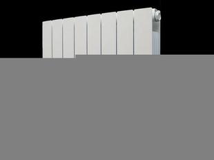 Radiateur à inertie sèche PANARO modèle droit Long.53cm Haut.58cm Ép.10cm coloris Blanc 1500W DELTACALOR - Gedimat.fr