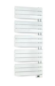 Radiateur sèche-serviettes ASYMÉTRIQUE DIGITAL Blanc 500W - Gedimat.fr