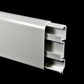 Plinthe passage fil revétue  ép.15mm haut.80mm long.2600mm blanc - Gedimat.fr