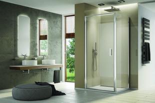 Porte pivotante LINEA haut.200cm long.80cm poli brillant verre transparent - Gedimat.fr