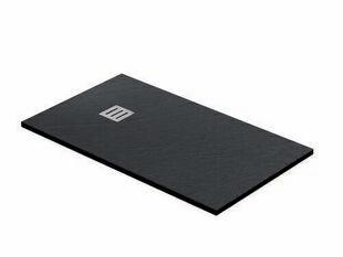 Receveur rectangulaire à poser QUARTZ résine polyester haut.3cm larg.90cm long.1,20m noir - Gedimat.fr