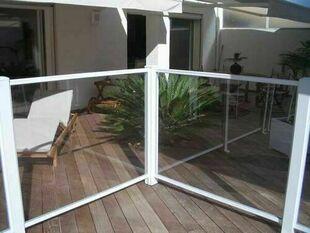 Clôture de piscine en PVC HORIZON en kit - Gedimat.fr
