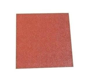Dalle amortissante caoutchouc antidérapante 50 x 50 x 2,5 cm rouge - Gedimat.fr