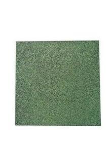 Dalle amortissante caoutchouc antidérapante 50 x 50 x 2,5 cm vert - Gedimat.fr