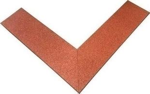 Bordure amortissante 100 x 25 x ép.2,5 cm rouge - Gedimat.fr