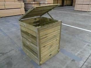 Composteur en bois Long.80 x Haut.101,4 x Prof.80 cm - Gedimat.fr