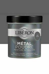 Peinture meubles métal poudré  mat gris acier  - pot 0,5l - Gedimat.fr