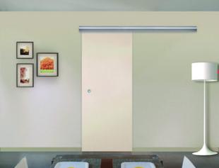 Kit coulissant prêt à peindre et rail bandeau alu gris - Gedimat.fr