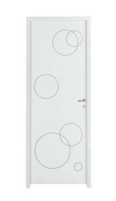 Bloc-porte plane SPHERE prépeint âme pleine à recouvrement huisserie Néolys 90x49mm larg.83cm droit poussant - Gedimat.fr