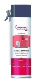 Mousse expansive manuelle 500 ml GEDIMAT PERFORMANCE PRO - Gedimat.fr