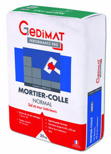 Mortier colle normal C1 gris 25 kg GEDIMAT PERFORMANCE PRO - Gedimat.fr