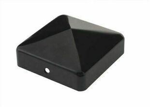 Chapeau pyramide pour poteau bois finition Noire - 70x70mm - Gedimat.fr