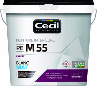 Peinture PE S55 expert satin blanc  - pot 5l - Gedimat.fr