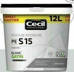 Peinture PE S15 essentiel satin blanc  - pot 12l - Gedimat.fr