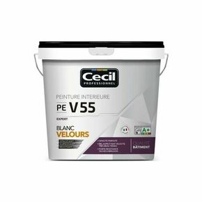 Peinture PE V55 expert velours blanc  - pot 5l - Gedimat.fr