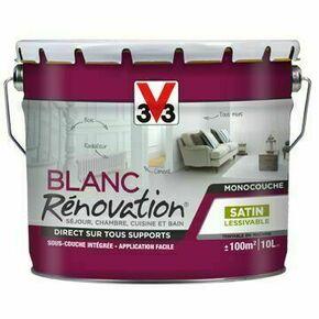 Peinture rénovation blanc mat  - pot 5l - Gedimat.fr