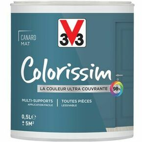 Peinture COLORISSIM mat gris galet  - pot 0,5l - Gedimat.fr