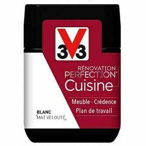 Peinture rénovation cuisine mat noir smoky  - pot 0,75l - Gedimat.fr