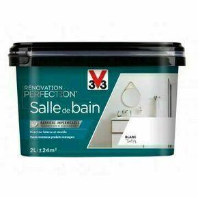 Peinture rénovation salle de bain satin voile coton  - pot 0,075l - Gedimat.fr