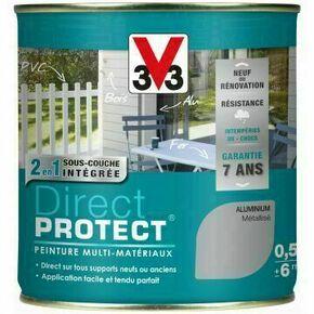 Peinture DIRECT PROTECT métallisé aluminium  - pot 0,125l - Gedimat.fr