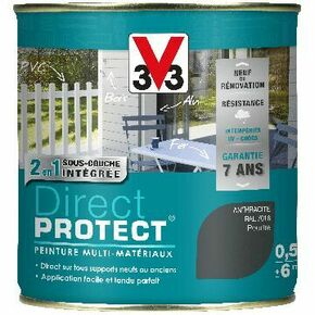 Peinture DIRECT PROTECT poudré anthracite  - pot 0,5l - Gedimat.fr
