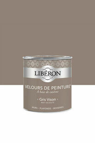Velours de peinture gris vison  - pot 2,5l - Gedimat.fr