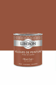 Velours de peinture brun cuir  - pot 0,5l - Gedimat.fr