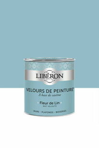 Velours de peinture fleur de lin  - pot 2,5l - Gedimat.fr