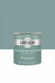 Velours de peinture bleu neptune  - pot 0,5l - Gedimat.fr