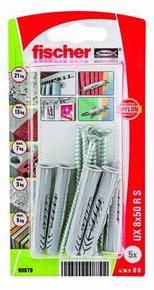 Cheville multi matériaux UX RS NV+collerette - 8x50mm - blister de 5 pièces - Gedimat.fr