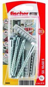 Cheville nylon avec collerette+vis SX S NV - 10x50mm - blister de 5 pièces - Gedimat.fr