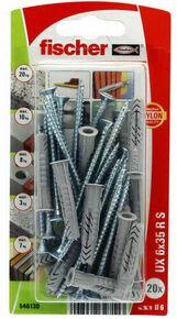 Cheville multi matériaux UX RS NV+collerette  - 6x35mm - blister de 20 pièces - Gedimat.fr