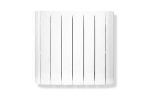 Radiateur à inertie fluide LAGAN Long.59,5cm Haut.58cm Ép.12,5cm 14,70kg coloris Blanc 1000W - Gedimat.fr