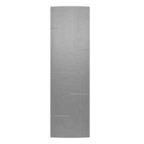 Radiateur MALAO Vertical à inertie fonte + façade chauffante Gris acier 1000W - Gedimat.fr
