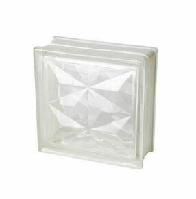 Brique de verre 198 ép.8cm dim.19x19cm PYRAMIDE - Gedimat.fr
