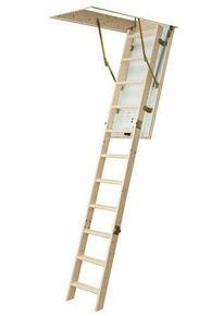 Escalier escamotable ECOWOOD 26 140x70cm 12 marches avec bloc-trappe - Gedimat.fr