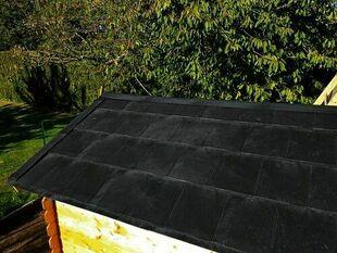 Tuile TUILIX plastique recyclé ép.3mm larg.30cm long.75cm texturé ardoise - Gedimat.fr