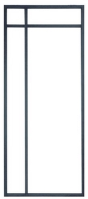 Porte alu suspendue VAIE Clair 2040x93mm - Gedimat.fr